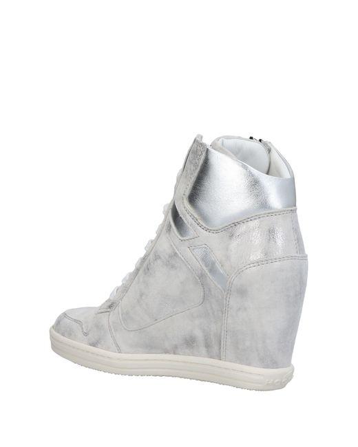 Hogan Rebel Gray High-tops & Sneakers