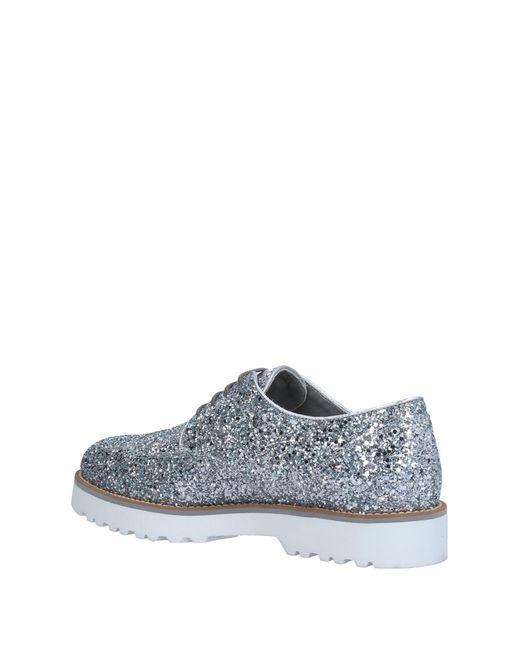 Hogan Metallic Lace-up Shoe
