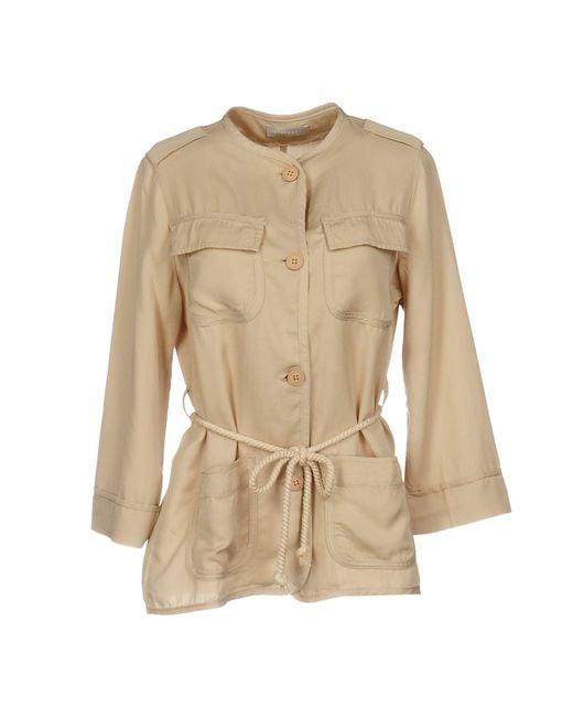 Stefanel - Natural Overcoat - Lyst