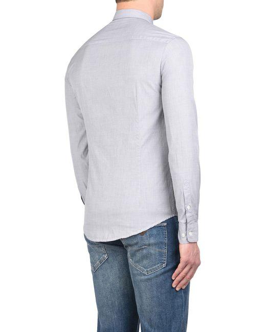 Camisa Armani Jeans de hombre de color Gray