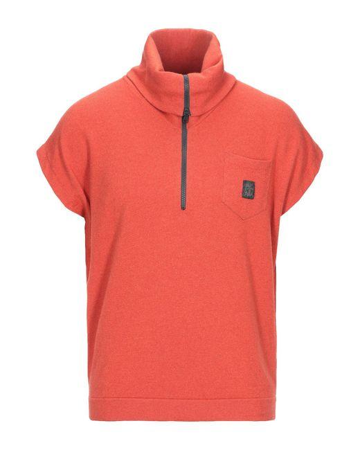 Brunello Cucinelli Orange Turtleneck for men