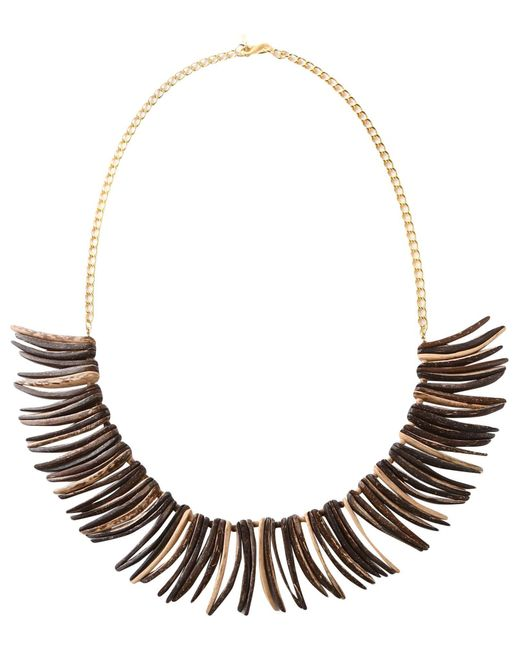 Kenneth Jay Lane Brown Necklace