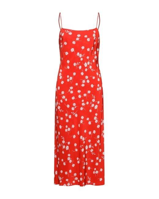 Bec & Bridge Red 3/4 Length Dress