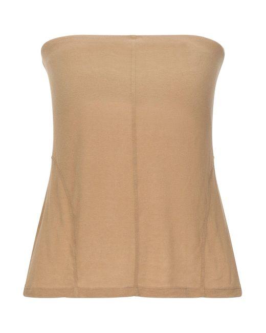Malloni Top a fascia da donna di colore neutro