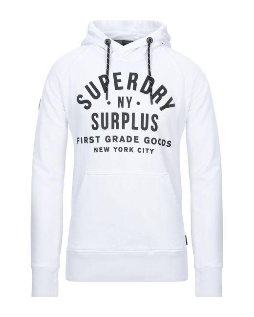 Felpa di Superdry in White da Uomo