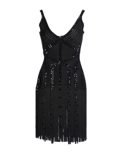 Hervé Léger - Black Short Dress - Lyst