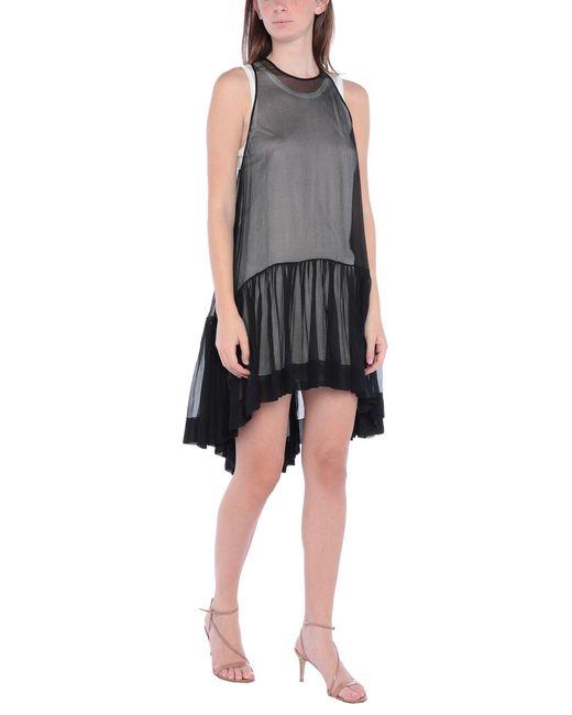 Robe courte N°21 en coloris Black