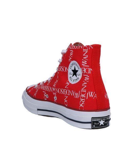 SneakersConverse in Tela da Uomo colore Rosso - Lyst
