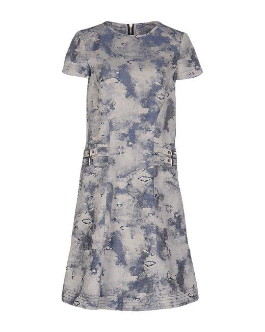 Philosophy di Alberta Ferretti - Gray Short Dress - Lyst