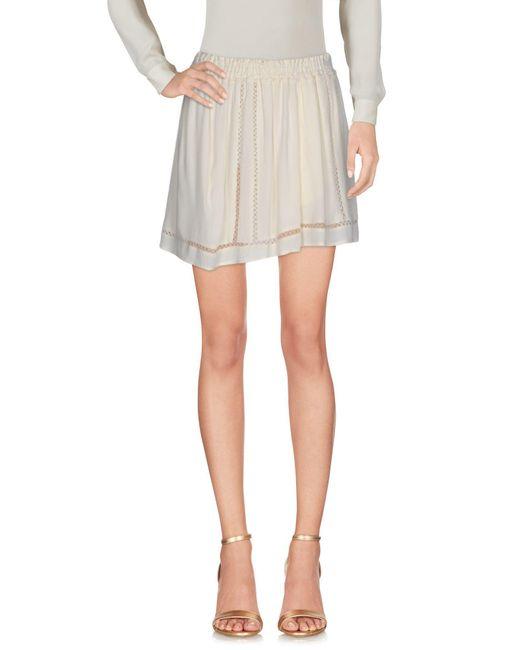 Scotch & Soda - Natural Mini Skirts - Lyst
