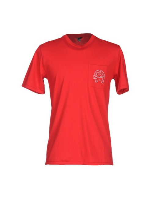Brixton | Red T-shirt for Men | Lyst