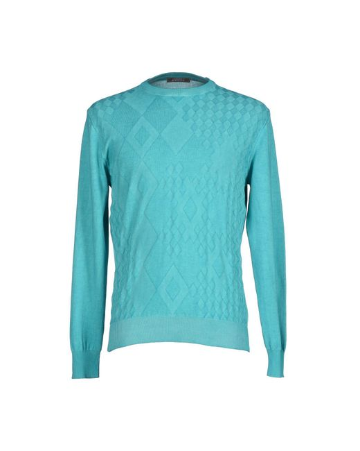 Andrea Fenzi - Blue Sweaters for Men - Lyst