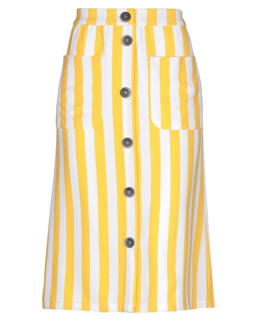 ONLY Yellow 3/4 Length Skirt
