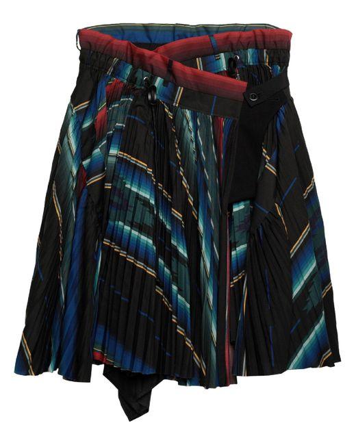 Falda corta Sacai de color Black