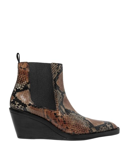 Acne Brown Ankle Boots