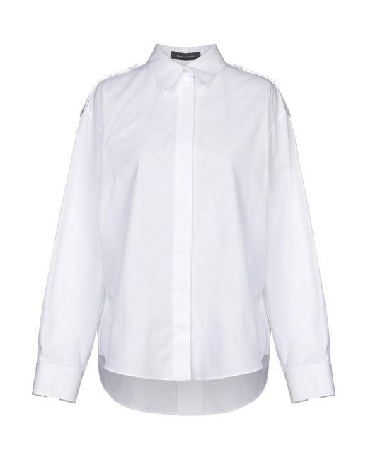 Cedric Charlier Camisa de mujer de color blanco KHKFB
