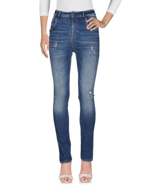 Manila Grace - Blue Denim Trousers - Lyst