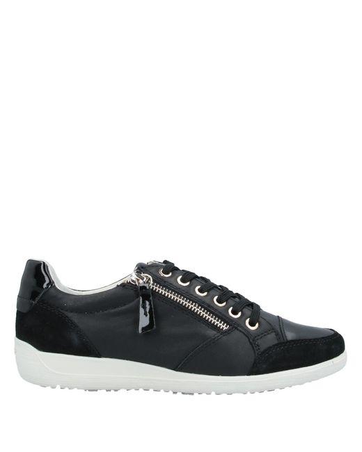 Geox Black Low Sneakers & Tennisschuhe