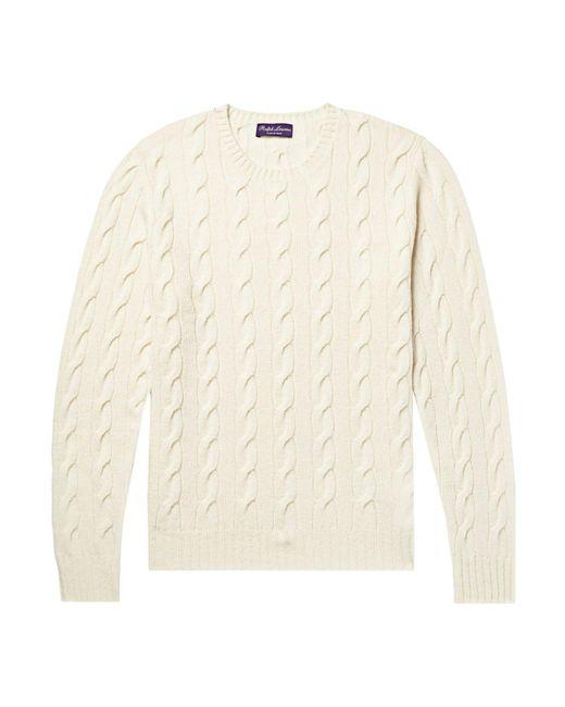 Pullover Ralph Lauren Purple Label pour homme en coloris White
