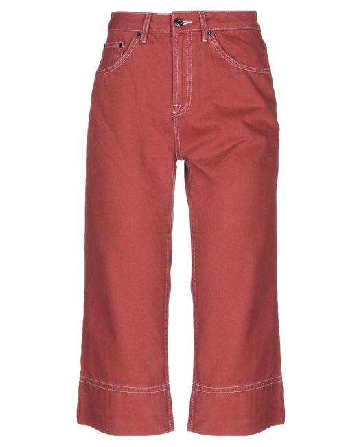 Pantacourt en jean TOPSHOP en coloris Red