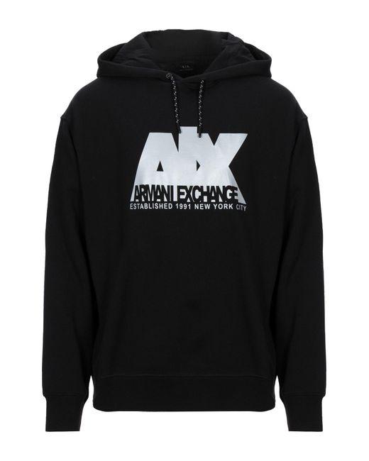 Felpa di Armani Exchange in Black da Uomo