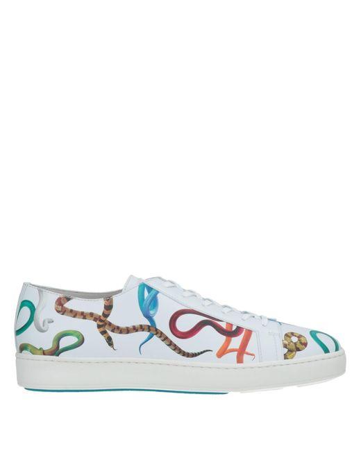 Santoni White Low-tops & Sneakers for men
