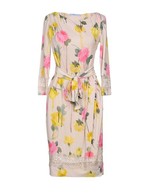Blumarine - Natural Knee-length Dress - Lyst