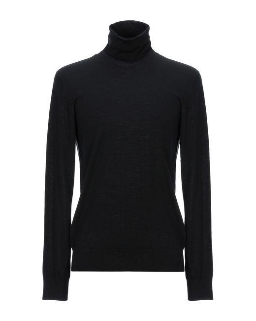 Col roulé Versace pour homme en coloris Black