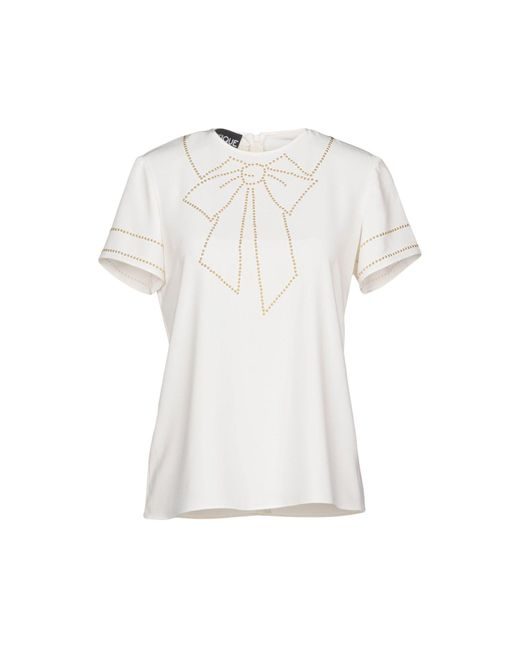 Boutique Moschino - White Blouses - Lyst