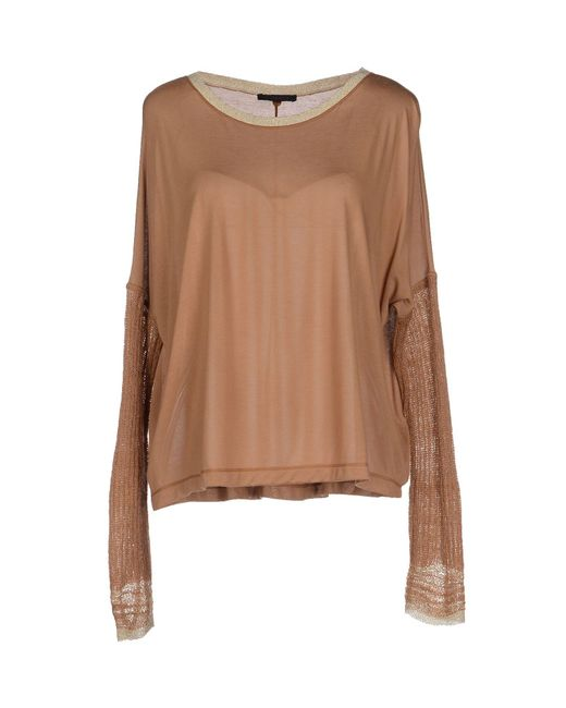 Pinko | Natural T-shirt | Lyst