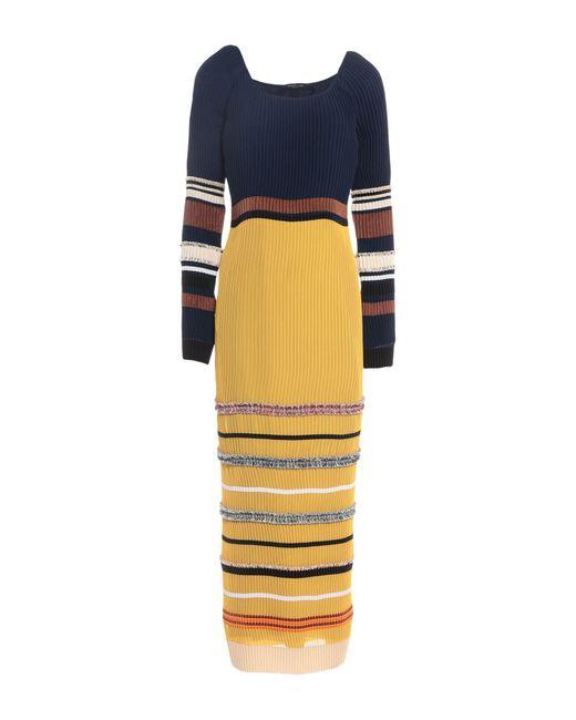 Derek Lam Blue Langes Kleid