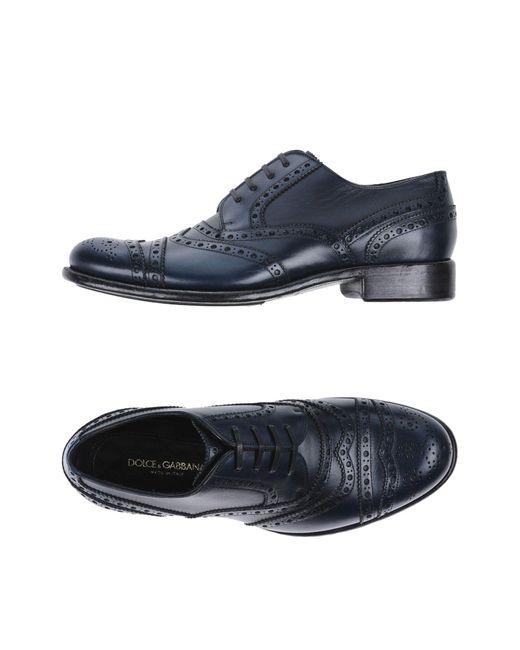 Dolce & Gabbana Blue Lace-up Shoe for men