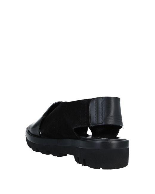 Rocco P Black Sandals for men