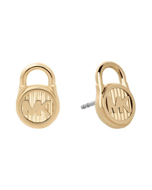 Michael Kors - Metallic Hamilton Padlock Stud Earrings - Lyst