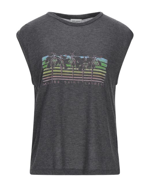 T-shirt di Saint Laurent in Gray
