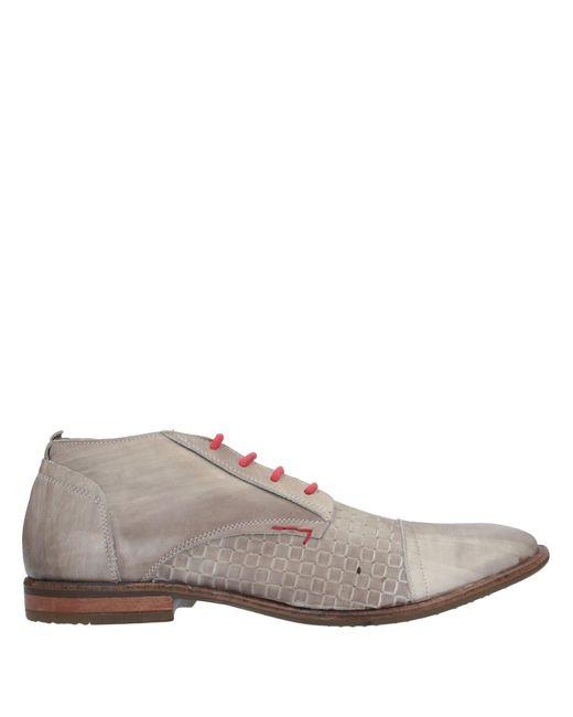 CafeNoir Zapatos de cordones de hombre de color gris