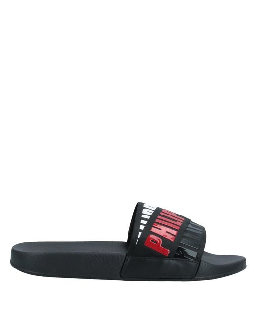 Philipp Plein Black Sandals for men