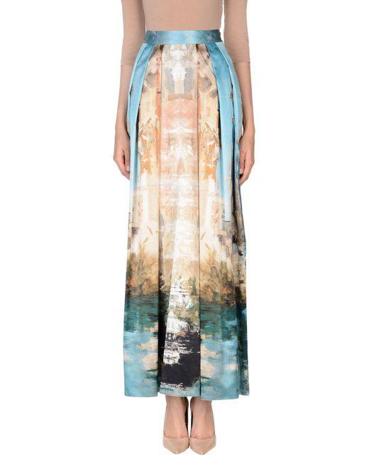 Alberta Ferretti - Blue Long Skirt - Lyst