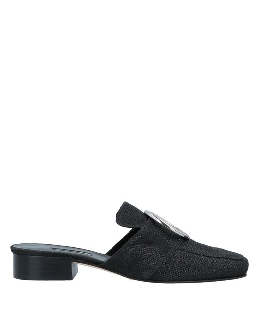 Dorateymur Black Mules & Clogs