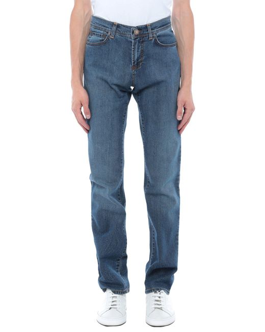 Trussardi Blue Denim Trousers for men