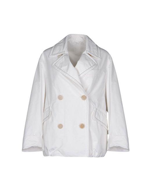 Brunello Cucinelli White Overcoat