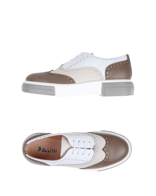 Pollini - Multicolor Lace-up Shoes - Lyst