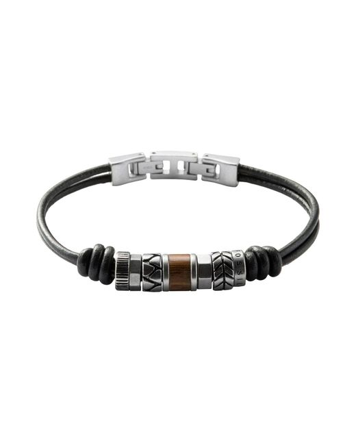 Fossil - Black Jf84196040 Vintage Casual Men's Bracelet for Men - Lyst