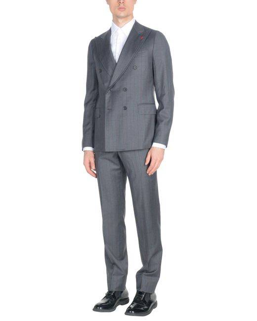 Isaia Gray Suit for men
