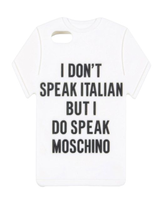 Moschino - White Covers & Cases - Lyst