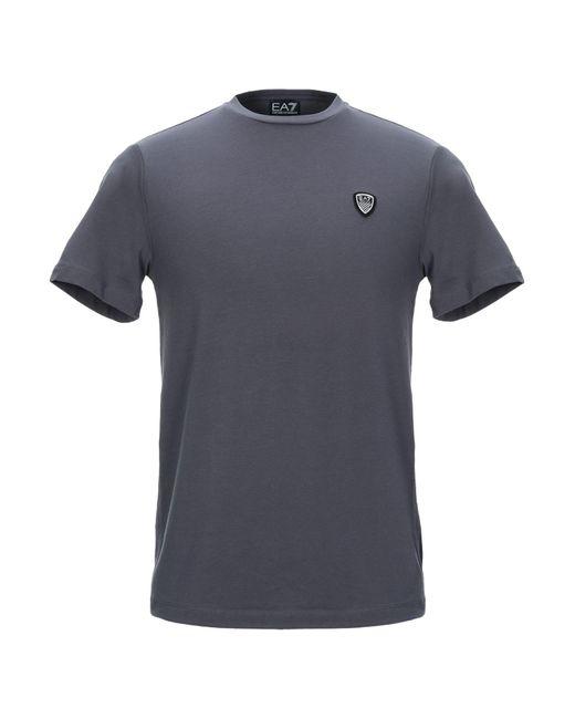 EA7 T-shirt da uomo di colore grigio