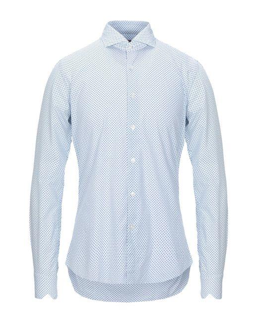 Xacus Camicia da uomo di colore bianco