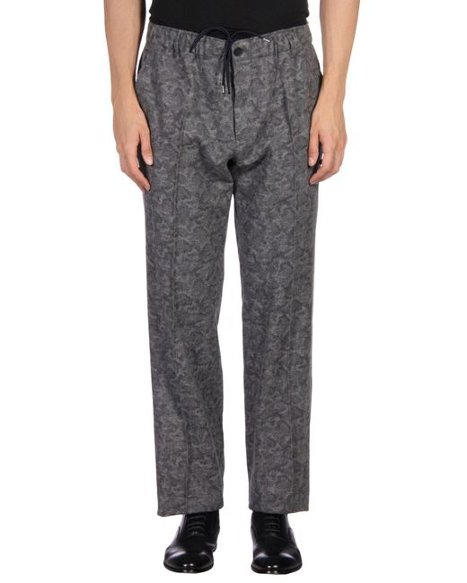 Maison Kitsuné - Gray Casual Pants for Men - Lyst