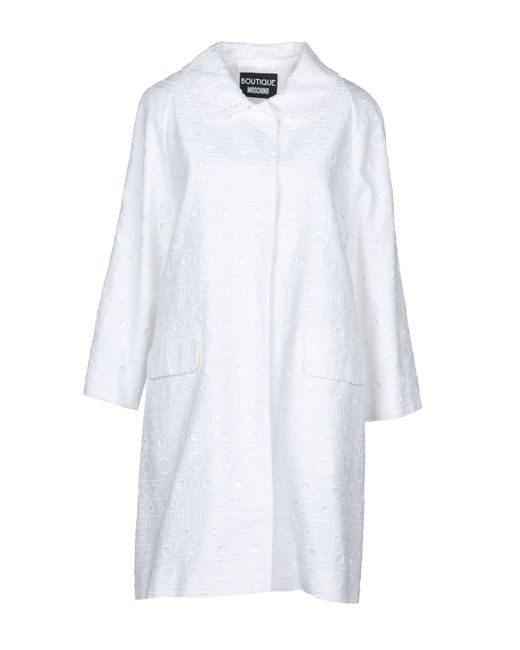 Boutique Moschino - White Coat - Lyst