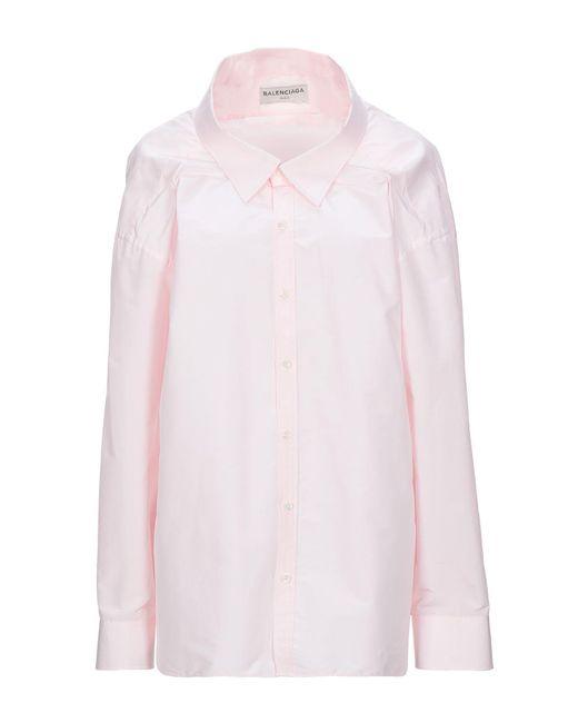 Balenciaga Camisa de mujer de color rosa VBeAw
